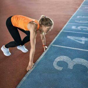 Leichtathletik Läufer beim Startschuss